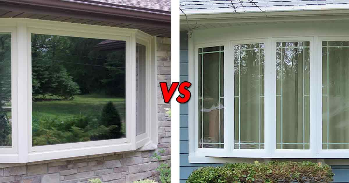 Bow windows vs bay windows Omaha
